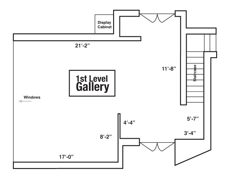 Esvelt Gallery floor plan