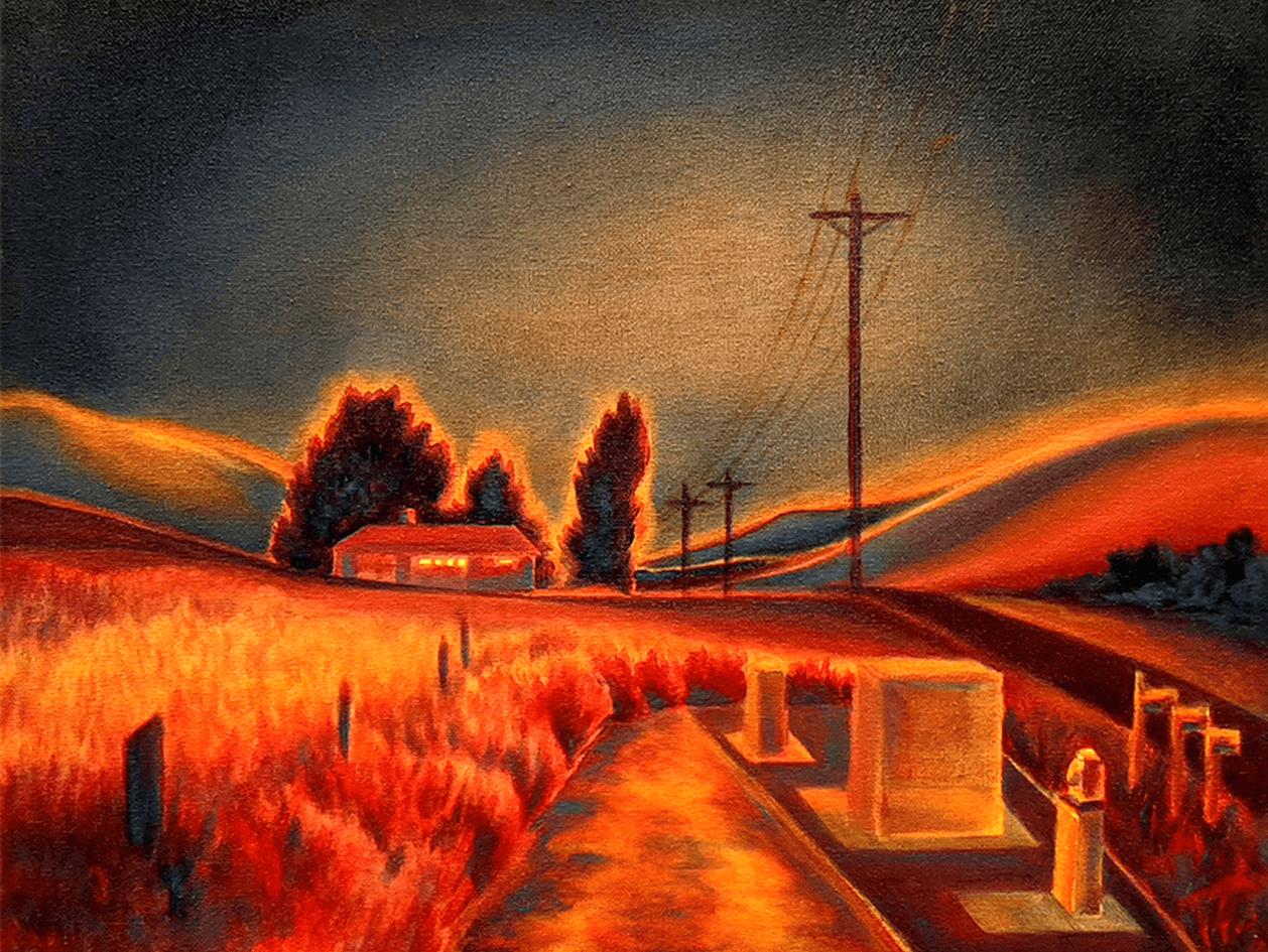 Hannah Lake, Irradiance, Acrylic on Canvas, 2019