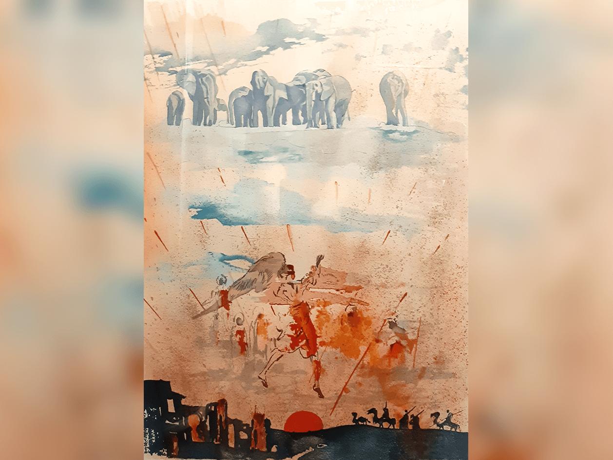 Salvador Dali, Elephants, print, Acquired 2010